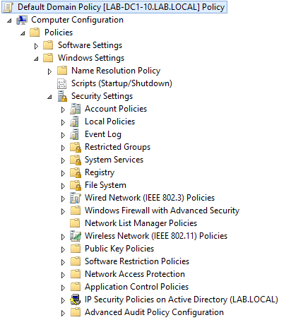 Group Policy: Computer Configuration\Policies\Windows Settings