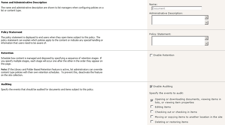 SharePoint Audit Policy: Auditing View Access on Individual